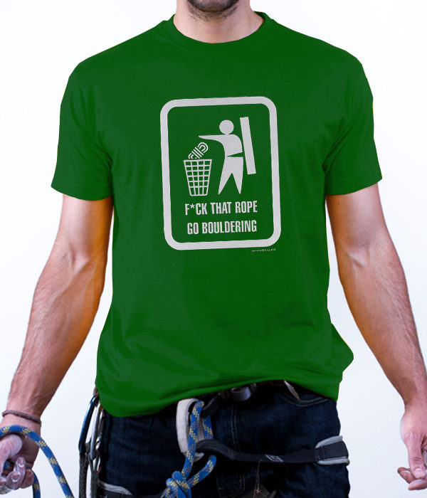 fuck that rope tee green